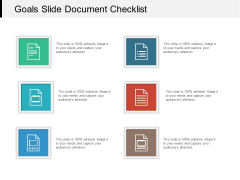 Goals Slide Document Checklist Ppt PowerPoint Presentation Infographic Template Examples PDF
