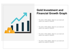 Gold Investment And Financial Growth Graph Ppt PowerPoint Presentation Pictures Background