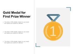 Gold Medal For First Prize Winner Ppt PowerPoint Presentation Layouts Gridlines