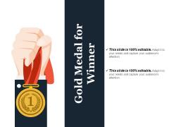 Gold Medal For Winner Ppt PowerPoint Presentation Outline Images