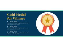 Gold Medal For Winner Ppt PowerPoint Presentation Show