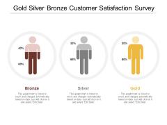 Gold Silver Bronze Customer Satisfaction Survey Ppt PowerPoint Presentation Outline Slides