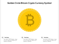 Golden Circle Bitcoin Crypto Currency Symbol Ppt PowerPoint Presentation File Graphics Template PDF