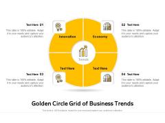 Golden Circle Grid Of Business Trends Ppt PowerPoint Presentation Slides Sample PDF