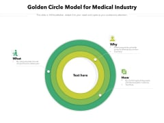 Golden Circle Model For Medical Industry Ppt PowerPoint Presentation Summary Aids PDF