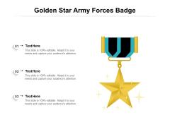 Golden Star Army Forces Badge Ppt PowerPoint Presentation Gallery Slide Portrait PDF