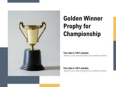 Golden Winner Prophy For Championship Ppt PowerPoint Presentation Icon Layout PDF