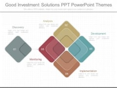 Good Investment Solutions Ppt Powerpoint Themes