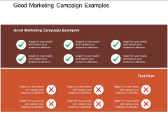 Good Marketing Campaign Examples Ppt PowerPoint Presentation Gallery Show