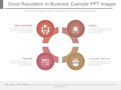 Good Reputation In Business Example Ppt Images