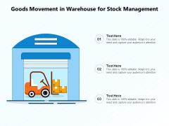 Goods Movement In Warehouse For Stock Management Ppt PowerPoint Presentation Professional Guide PDF