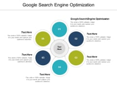 Google Search Engine Optimization Ppt PowerPoint Presentation Slides Influencers Cpb