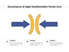 Governance Of Agile Transformation Vector Icon Ppt PowerPoint Presentation Portfolio Templates PDF