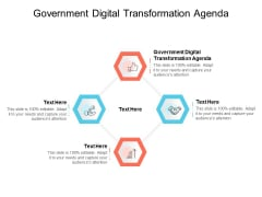 Government Digital Transformation Agenda Ppt PowerPoint Presentation Inspiration Introduction Cpb