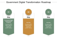 Government Digital Transformation Roadmap Ppt PowerPoint Presentation Pictures Background Images Cpb Pdf