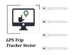 Gps Trip Tracker Vector Ppt PowerPoint Presentation Portfolio Icon