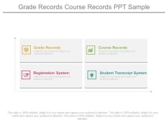 Grade Records Course Records Ppt Sample