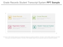 Grade Records Student Transcript System Ppt Sample
