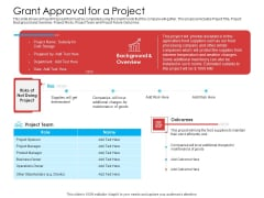 Grant Approval For A Project Summary PDF