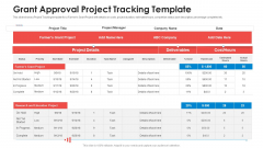 Grant Approval Project Tracking Template Themes PDF