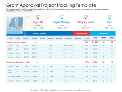 Grant Approval Project Tracking Template Topics PDF
