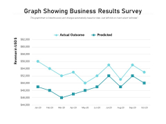 Graph Showing Business Results Survey Ppt PowerPoint Presentation Summary Slide Portrait