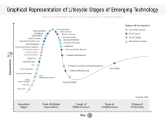 Graphical Representation Of Lifecycle Stages Of Emerging Technology Ppt PowerPoint Presentation File Slides PDF
