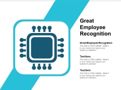 Great Employee Recognition Ppt PowerPoint Presentation Outline Inspiration Cpb