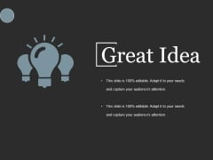 Great Idea Ppt PowerPoint Presentation Model Samples