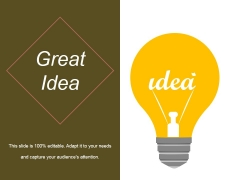 Great Idea Ppt PowerPoint Presentation Tips