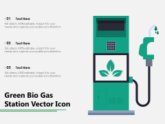 Green Bio Gas Station Vector Icon Ppt PowerPoint Presentation File Maker PDF