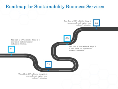 Green Business Roadmap For Sustainability Business Services Formats PDF