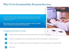 Green Business Why Us For Sustainability Business Services Download PDF