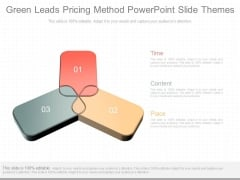 Green Leads Pricing Method Powerpoint Slide Themes
