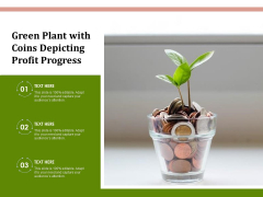 Green Plant With Coins Depicting Profit Progress Ppt PowerPoint Presentation File Structure PDF