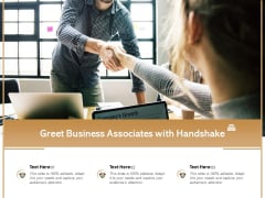 Greet Business Associates With Handshake Ppt PowerPoint Presentation Gallery Infographics