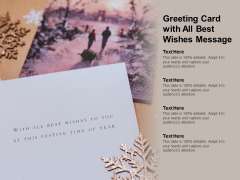 Greeting Card With All Best Wishes Message Ppt PowerPoint Presentation Professional Design Inspiration
