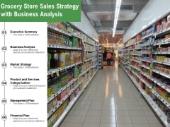 Grocery Store Sales Strategy With Business Analysis Ppt PowerPoint Presentation Summary Introduction