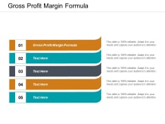 Gross Profit Margin Formula Ppt PowerPoint Presentation Model Pictures Cpb
