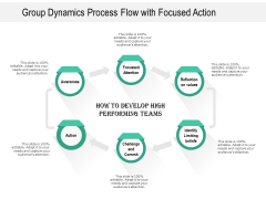 Group Dynamics Process Flow With Focused Action Ppt PowerPoint Presentation Summary Outfit PDF