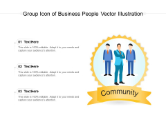 Group Icon Of Business People Vector Illustration Ppt PowerPoint Presentation Gallery File Formats PDF