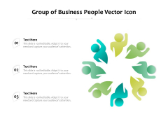 Group Of Business People Vector Icon Ppt PowerPoint Presentation File Graphic Tips PDF