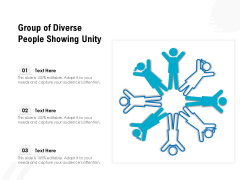 Group Of Diverse People Showing Unity Ppt PowerPoint Presentation Gallery Summary PDF