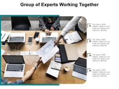 Group Of Experts Working Together Ppt PowerPoint Presentation Layouts Deck