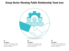 Group Vector Showing Public Relationship Team Icon Ppt PowerPoint Presentation Gallery Icons PDF