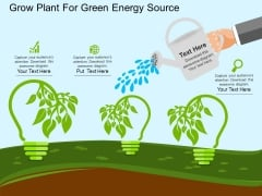 Grow Plant For Green Energy Source Powerpoint Template