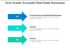 Grow Sustain Successful Real Estate Businesses Ppt PowerPoint Presentation Styles Images Cpb