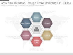 Grow Your Business Through Email Marketing Ppt Slides