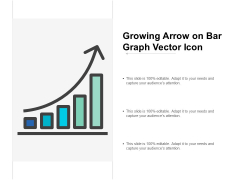 Growing Arrow On Bar Graph Vector Icon Ppt PowerPoint Presentation Designs Cpb