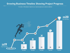 Growing Business Timeline Showing Project Progress Ppt PowerPoint Presentation Styles Backgrounds